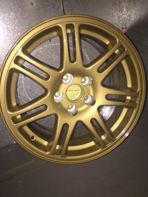 Gold Powder Coated Wheel, Imitation Gold