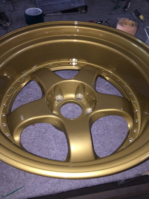 Gold Powder Coated Wheel, Gold Powder Coating Powder