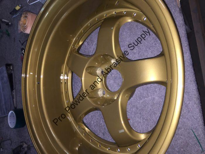 Gold Powder Coated Wheel, Gold Powder Coating Powder
