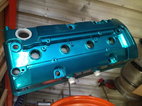 CANDY TEAL POWDER COATING