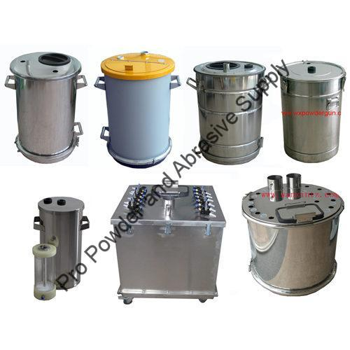 POWDER COATING FLUIDIZED HOPPERS