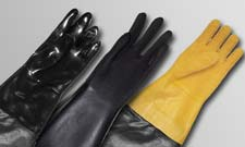 GLOVES AND BLAST SUITS