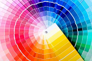 powder coating color wheel