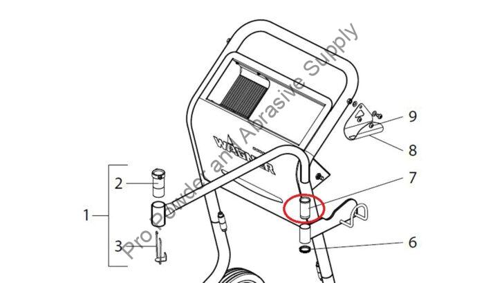 Wagner Air Fluid Suction Tube Arm Guide Bushing
